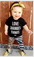 2017 Kid Girl baby ins high grade quality printing tshirt and long pant baby boy clothes set ready in stock