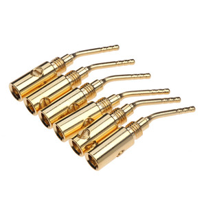 Image 2 - Conectores Banana 20 piezas de 2mm para altavoz, conector de Cable chapado en oro para Audio, Kit de adaptador de altavoz Musical HiFi