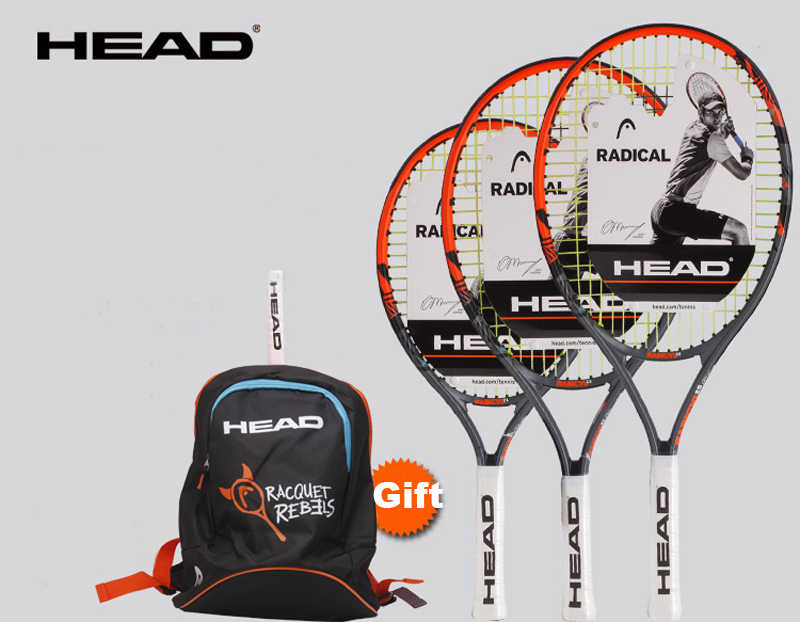 21/23/25 Inch HEAD Tennis Racket Radical Child Raquete Tenis Composite Carbon Tennis Racquet Outdoor Sport Tennis Training Raket