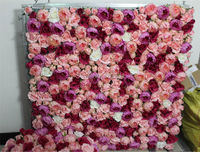 Free Shipping 10pcs Lot Artificial Silk Rose Flower Wall Peony Wedding Background Lawn Pillar Flower Road