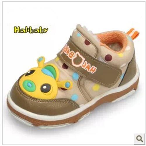 2015 nuevo invierno 0-3 años del niño del bebé niños botas zapatos niños acolchado cottonslip desgaste chicos de fondos blandos de las muchachas