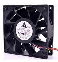 SSEA New Big air volume cooling fan for Delta PFC1212DE 120*120*38 mm 12038 12CM DC 12V 4.80A server inverter fan