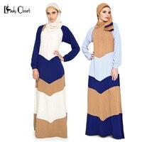 Yeni Geldi Abaya Müslüman uzun Elbise Kadınlar Islam başörtüsü Giyim Türk Splice Elbise Robe Musulmane elbiseler Vestidos longos