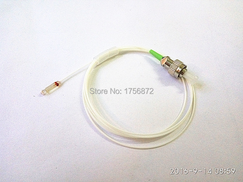 Fiber Optic Single Core Collimator 2.78mm Glass Tube Fiber Optic Collimator C-lens Collimator FC/APC Connector 0.9mm SM 1M