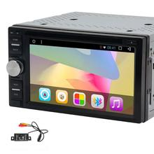 Android 6.0 2Din Car DVD Player Autoradio Bluetooth Wifi GPS Navigation Head Unit Mirror link 1080P Video Multimedia+Back Camera