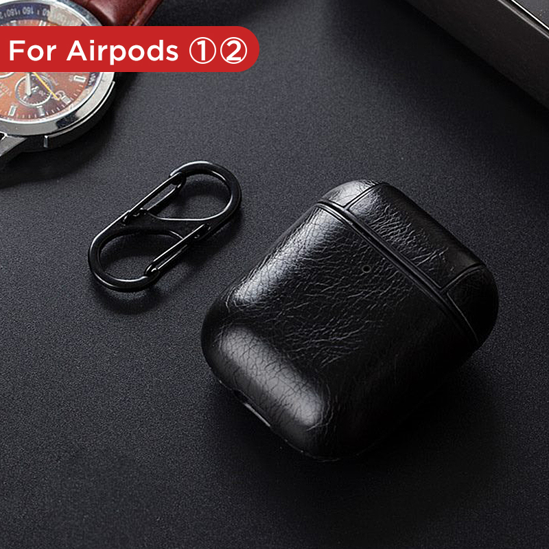 Image 3 - Luxury Bag For Apple AirPods Bluetooth Wireless Earphone Leather Case Cover For Air Pods 1 2 Funda Cover Charging Box Cases-in Earphone Accessories from Consumer Electronics