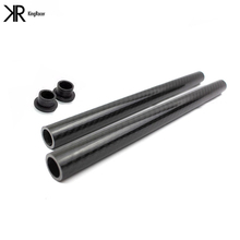 22MM 7/8 Universal Motorcycle Carbon Fiber Clip On Ons Replacement Handle Bar Handlebars Grips Tube 2pcs