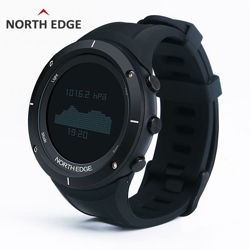 EDGE UTARA Lelaki Sukan Watch Altimeter Barometer Thermometer Compass Heart Rate Monitor Pedometer Digital Running Climbing Watch