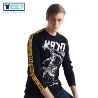 Top Quality men's plus size long sleeved T shirt TEE7 Men Game LOL Galiot Men's hip hop style cotton bandage sweatshirt
