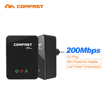 Одна пара! ЕС home plug 200 Мбит мини Plc Модем Ethernet линии Электропередачи сети gigabit extender адаптеры переменного тока мост Powerline комплект