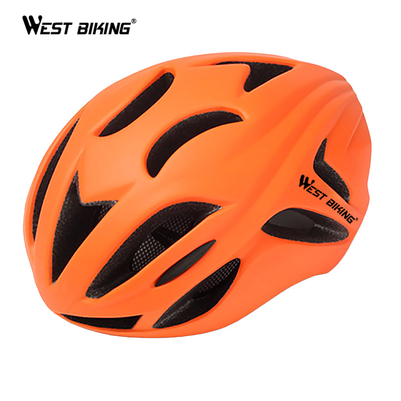 ФОТО WEST BIKING Road Bike Tail Ultralight Integrally-molded Helmet Women Men Bicycle Riding Bicycle EPS Breathable Cycling Helmets
