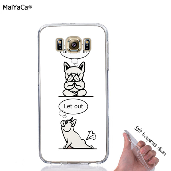 french bulldog dog soft transparent full silicone phone cases for samsung s4 s5 s6 edge plus s7 s7edge s8 s8plus s9 s9plus case