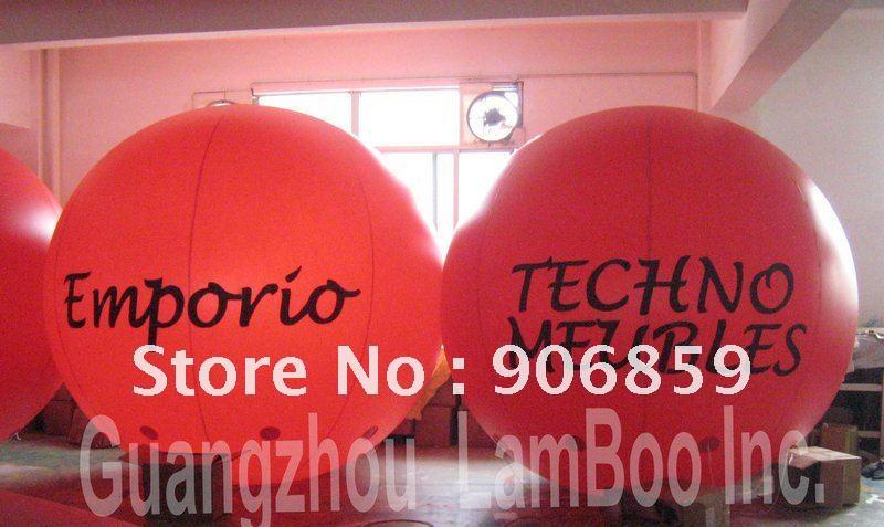 Лидер продаж, 3 м большой красный надувные рекламные шары с гелием, надувная Сфера, более эффектно, хорошо подходит для продвижения