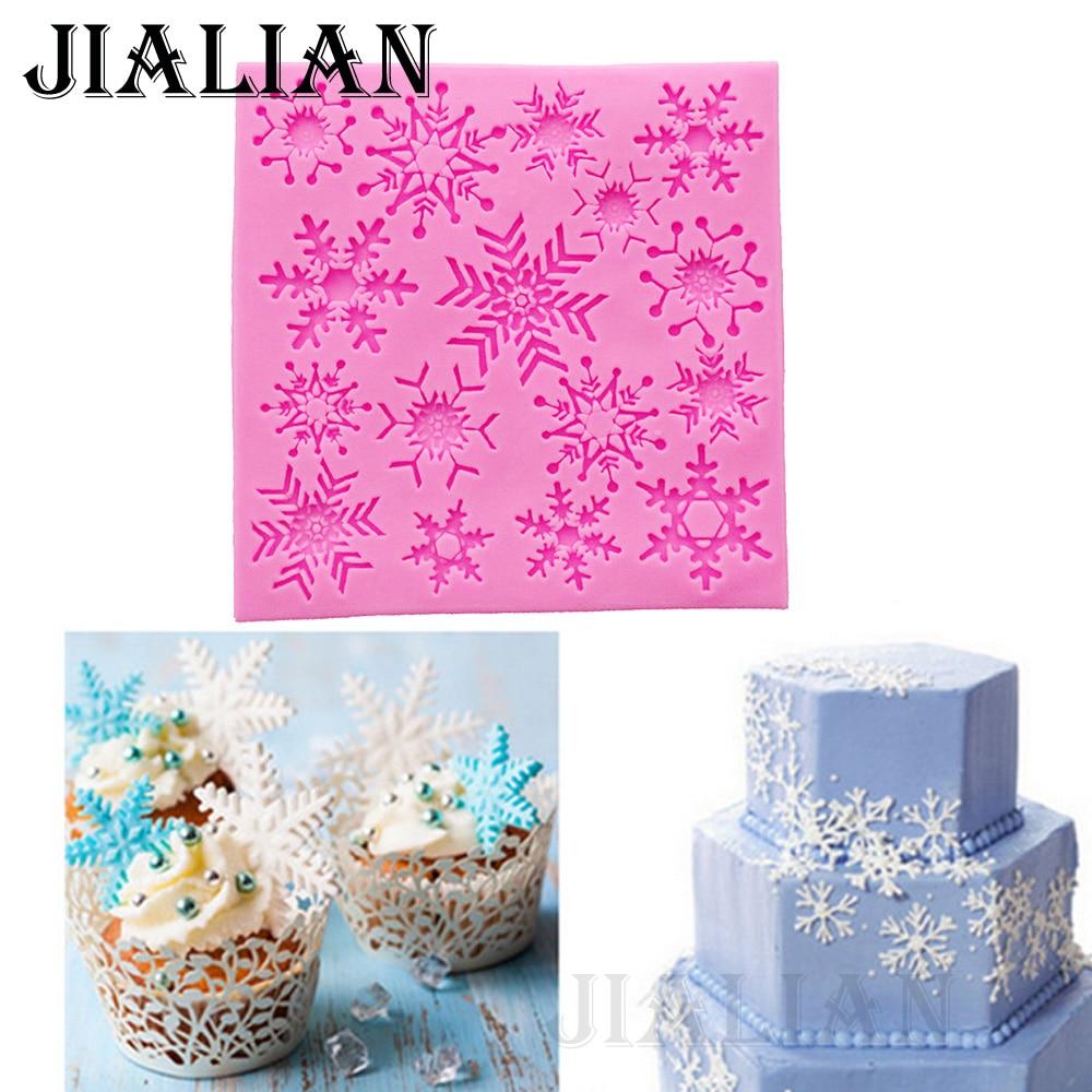 ③Christmas cake baking tools Beautiful snowflake cake decoration ...