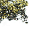Black Jet Hematite~1440pcs/bag ss3~ss19 Round Crystal loose pointback rhinestones,Glass glue on nail art rhinestones