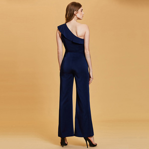 Image 2 - Dressv темно синее длинное вечернее платье, Дешевое женское платье на одно плечо, без рукавов, для свадебвечерние НКИ, официальное платье, вечернее платье, es
