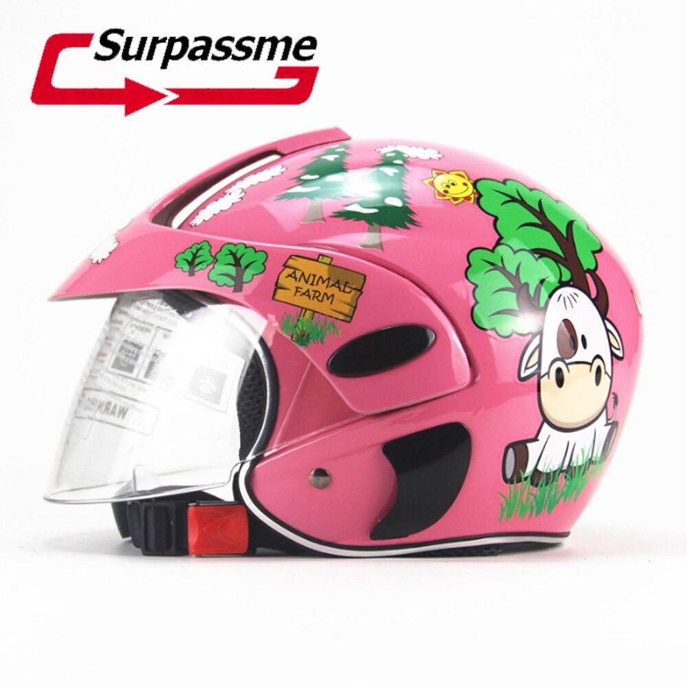 子供オートバイヘルメット電動自転車子フルフェイス Capacete 子供スポーツ漫画ヘルメット子供モト安全ヘルメット  グループ上の 自動車 &バイク からの ヘルメット の中 1