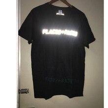 80cdac7eafc5 FOG Women Men 1 1 Cotton Hip Hop Streetwear Tee 3M Reflective Places Faces T -Shirt