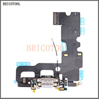 BRICOTOOL 10pcs/lot USB Charging Charger Port Dock Connector Flex Cable For iPhone 7 7G 4.7 Audio Microphone Flex