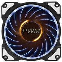 をjonsbo 120ミリメートルFR-101P ledライトコンピュータcpu冷却ファン4ピンラジエーターpwm pcケースクーラー用インテルamd diyモッ