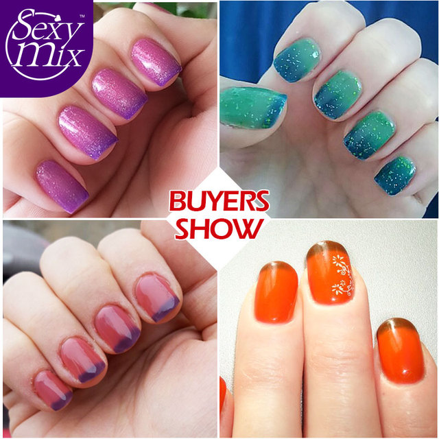 Sexy Mix Gel Nail Polish Color Changing Temperature UV Gelpolish 25 Colors 7ML Soak off UV Gel Polish for Nail Gel Art Design