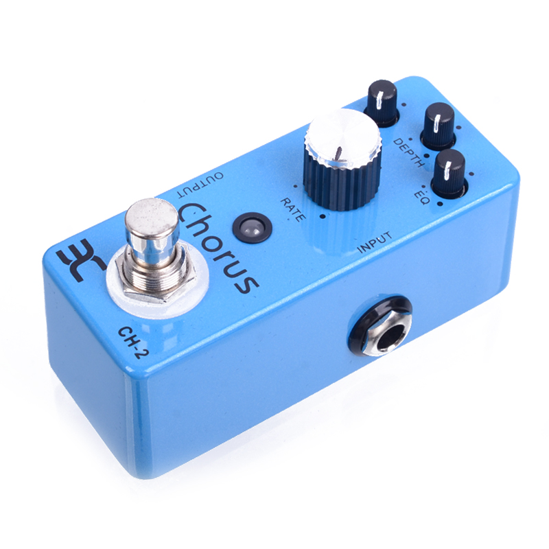 ENO TC-51 CH-2 Mini Single Chorus Electric Guitar Effect Pedal True Bypass Guitarra Part mooer ensemble queen bass chorus effect pedal mini guitar effects true bypass with free connector and footswitch topper