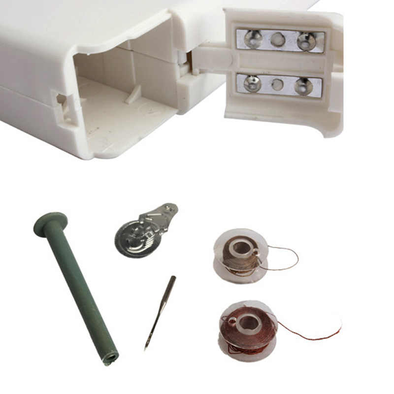Portable Mini Sewing Machine Bobbin With Thread and Needle Home Sewing Quick Table Handheld Single Stitch Clothes