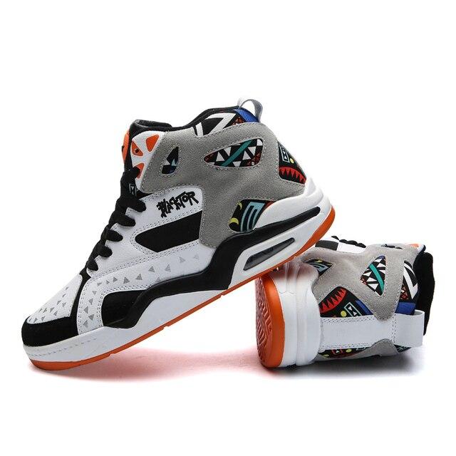 Moda casual sapatos masculinos respirável formadores alta superior almofada de ar tenis tênis masculino adulto krasovki tamanho 46 chaussures homme