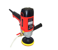 electric wet stone polisher hand grinder water mill variable speed with 8 units wet polishing pad 220v 110v 900W 4 inch