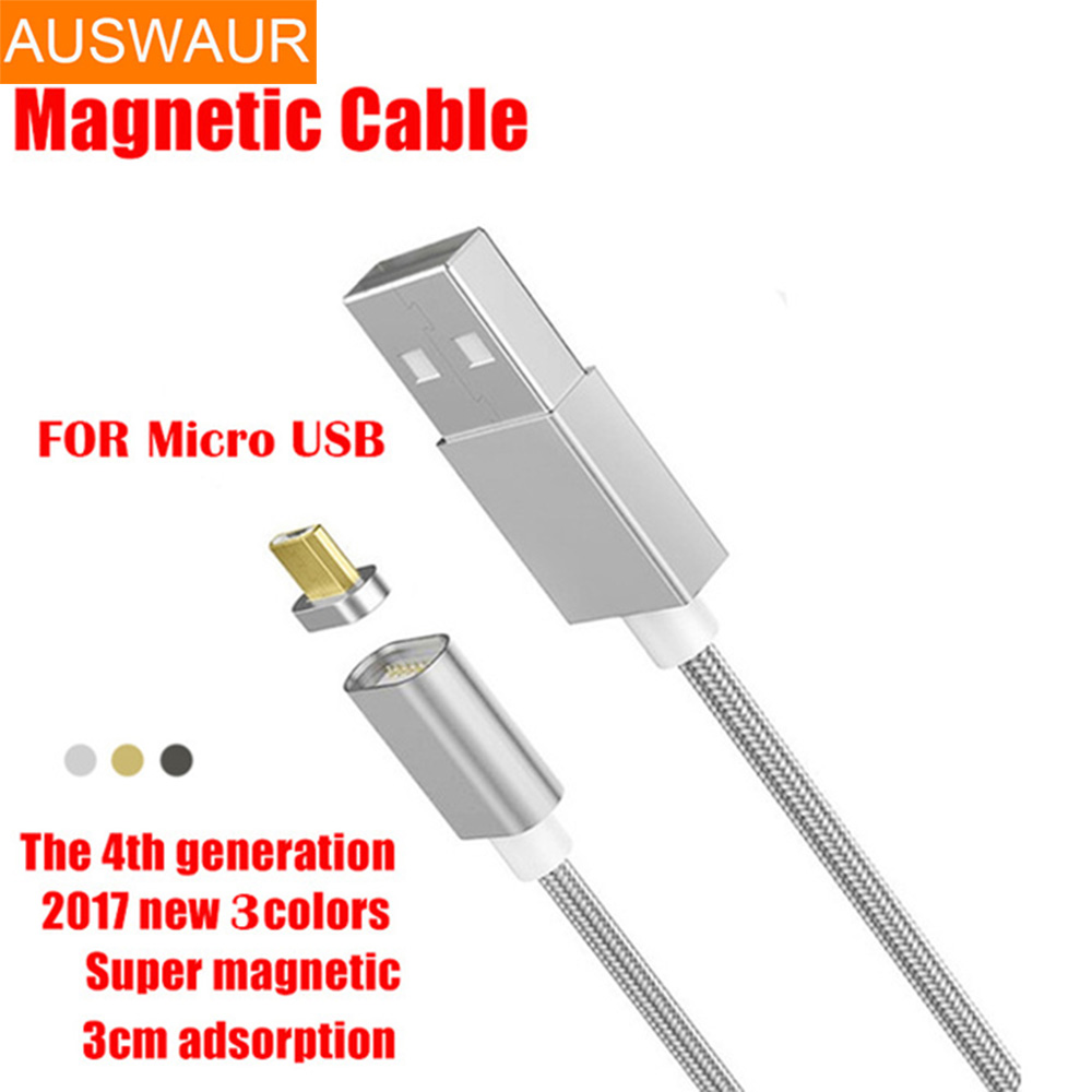 Android Magnetic USB Fast Charger Cable for Samsung LG 1M 2.4A Fast Charging Magnetic Cable for Xiaomi