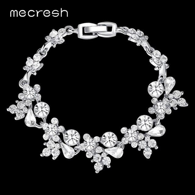 Mecresh crystal bridal bracelets for women silvergold color mecresh crystal bridal bracelets for women silvergold color rhinestones african wedding pulseiras christmas junglespirit Choice Image