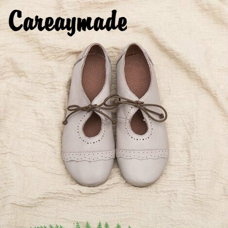 Careaymade 2018 spring new Women s casual shoes round head comfortable lazy shoes pure handmade genuine