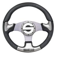 New Universal Fits Racing Sport 13028 350mm Suede Deep Dish Alloy Steering Wheel
