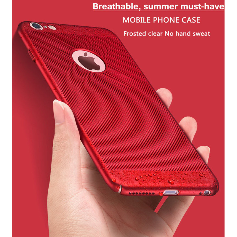 Heat dissipation phone Case For iPhone X, 6 6s plus, 8, 8 plus, 7 Plus, Cover Hard Back PC Protect Shell 1