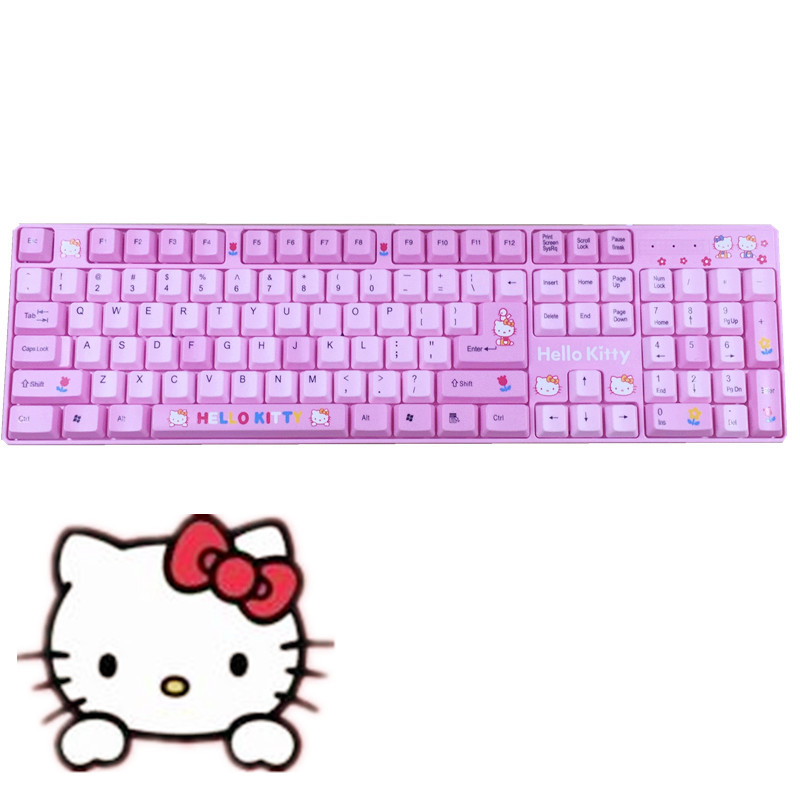 розовая клавиатура компьютера