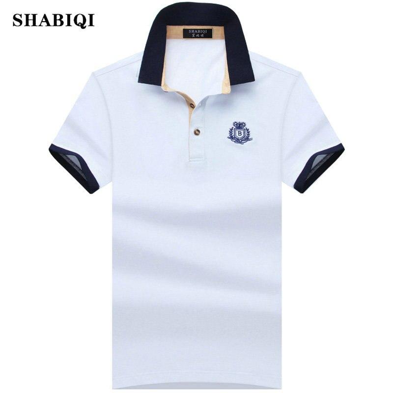 SHABIQI New 2019 BIG Men   Polo   shirt Solid Color Slim Fit Shirt Men Cotton   polo   Shirts Casual Shirt big size S-6XL 7XL 8XL9XL10XL
