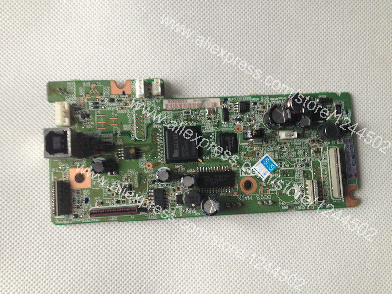 Printer Logic Mother Board For Epson L355 Formatter board Main Board 1pcs used main board formatter board for epson l365 l366 l375 printer main logic mother board