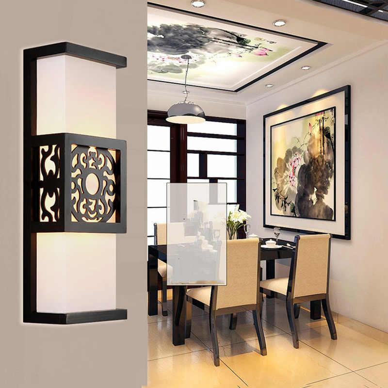 Chinesische klassische antike wand licht schlafzimmer foyer leuchte lampe gang korridor imitation pergament