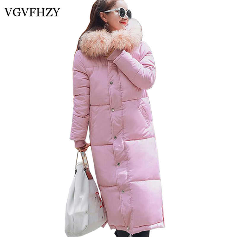 f9a0d3bbcdd21 Women Loose Hooded White Duck Down Jacket 2017 New Female XL-Long Warm  Goose Feather