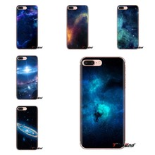 For Xiaomi Redmi 4A S2 Note 3 3S 4 4X 5 Plus 6 7 6A Pro Pocophone F1 Blue Galaxy Starry sky Transparent Soft Shell Covers(China)