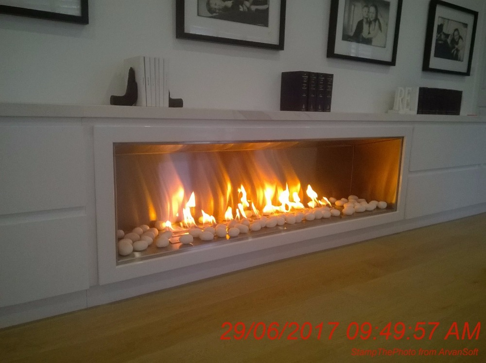 On Sale 48 Inch Black Or Silver Stainless Steel Ethanol Fireplace Stove