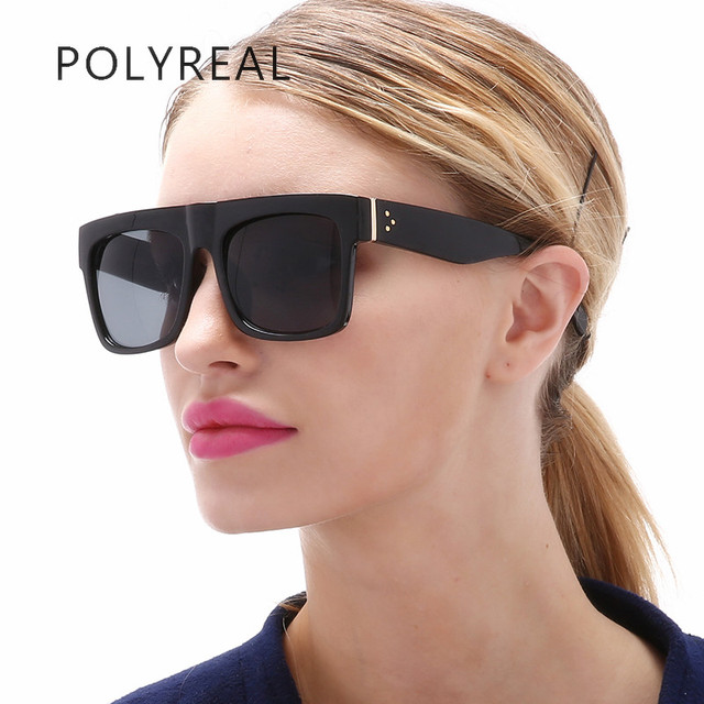 12d951207 POLYREAL Fashion Vintage Square Sunglasses Women Brand Designer High  Quality Sun Glasses Vogue Retro Mirror UV400 For Ladies