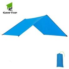 GeerTop водонепроницаемый легкий Тент Пол следа брезент дождь муха солнцезащитный тент коврик наземный лист для наружного кемпинга синий