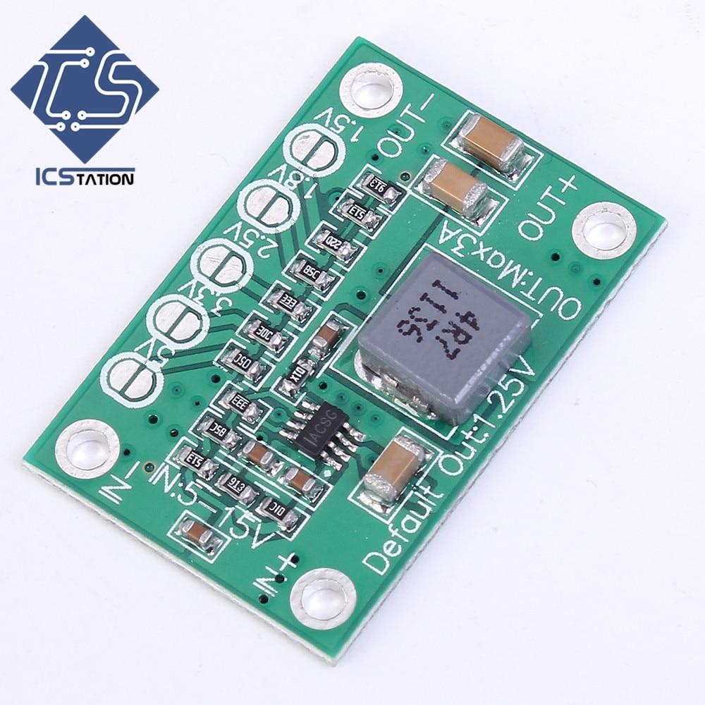 Universal Adjustable Step-Down Power Module 5-16V To 1.25V/1.5V/1.8V/2.5V/3.3V/5V Buck Voltage Converter Board 3A For LCD dc dc automatic step up down boost buck converter module 5 32v to 1 25 20v 5a continuous adjustable output voltage