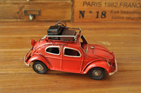 Free shipping Beetle models tin toys nostalgia wrought iron with baggage home decor photography props