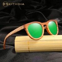 KITHDIA Handmade Wooden Sun glasses Polarized Women Brand Designer Sunglasses Original Wood Glasses Gafas de sol para mujer