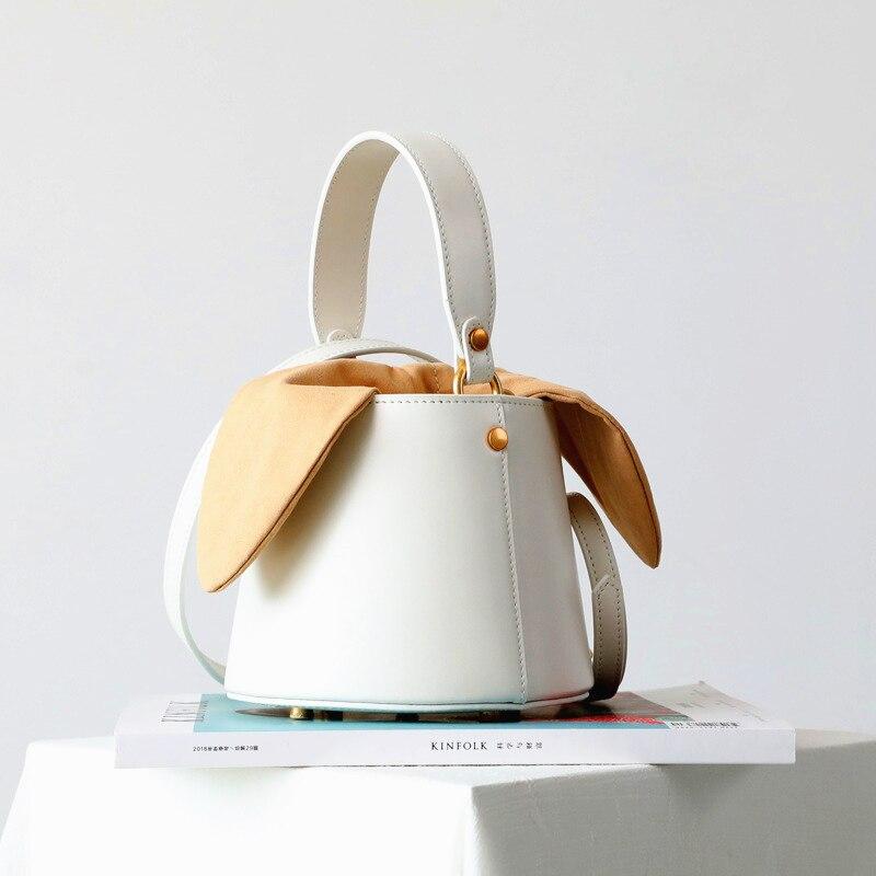 Burminsa Mini seau en cuir véritable sacs à bandoulière pour femmes sacs à main design Unique téléphone de luxe dames sacs à bandoulière 2019