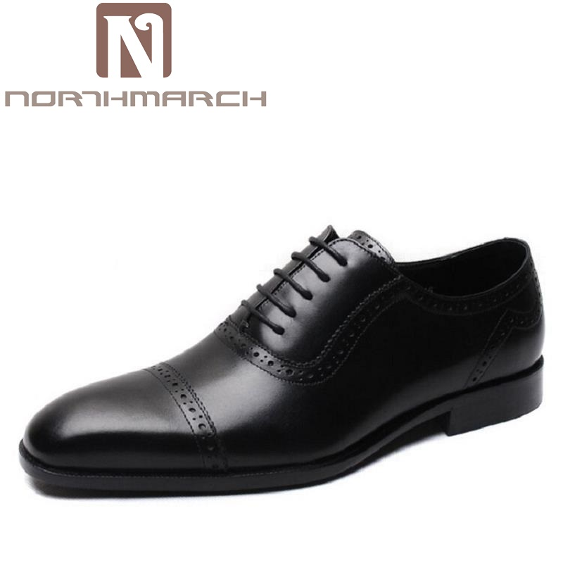 NORTHMARCH Mens Dress Shoes Office Lace-Up Leather Shoes Mens Party Driving Oxfords Sapato Social Vintage Carved Brogue FlatsNORTHMARCH Mens Dress Shoes Office Lace-Up Leather Shoes Mens Party Driving Oxfords Sapato Social Vintage Carved Brogue Flats