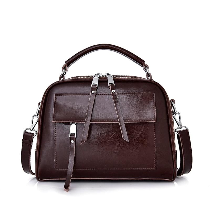 Réel Véritable Sac À Main En Cuir sac pour femme Femelle Bandoulière grand sac fourre-tout sacs de postier pour femmes Femelle sac pour femme