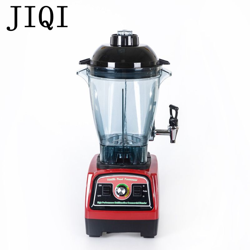 JIQI Commercial ice smoothie blender food mixer juicer Electric fruit juice extractor Multifunctional soy milk machine 110V 220V 2l wholesale fruit mixer manual smoothie blender juicer meat grinder with digital temperature control